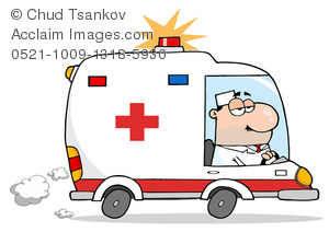 Ambulance clipart cute. Image of a paramedic
