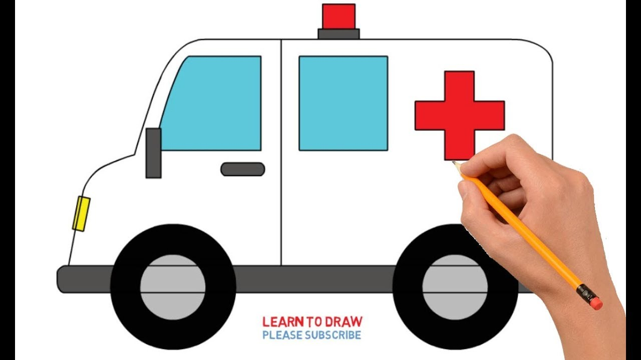 How to step by. Ambulance clipart draw