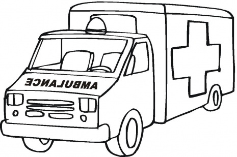 Black and white letters. Ambulance clipart draw
