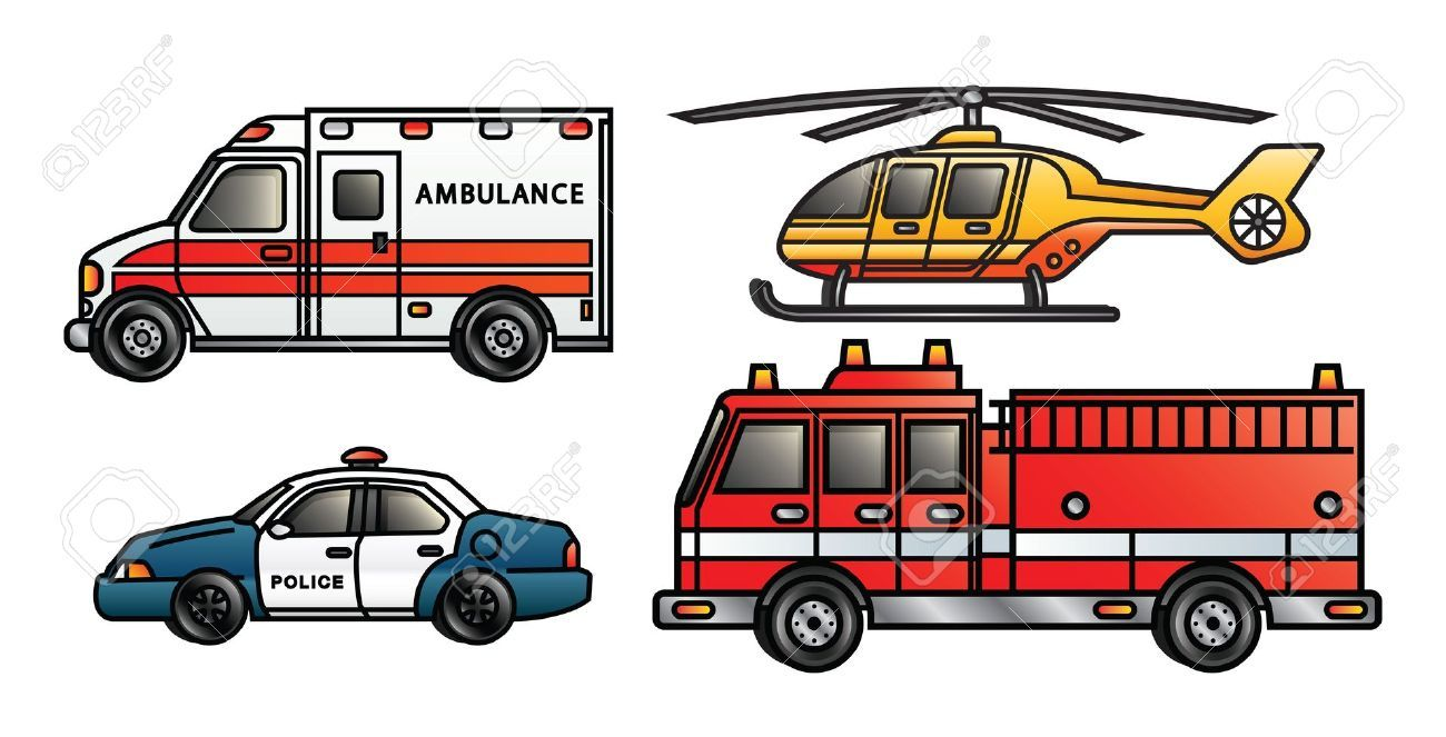 Emergency clipart emergency vehicle. Vehicles images printable templates