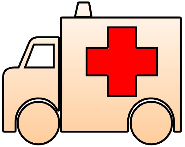 Cutout clip art at. Ambulance clipart gambar