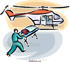 Ambulance clipart helicopter. Person loaded onto air