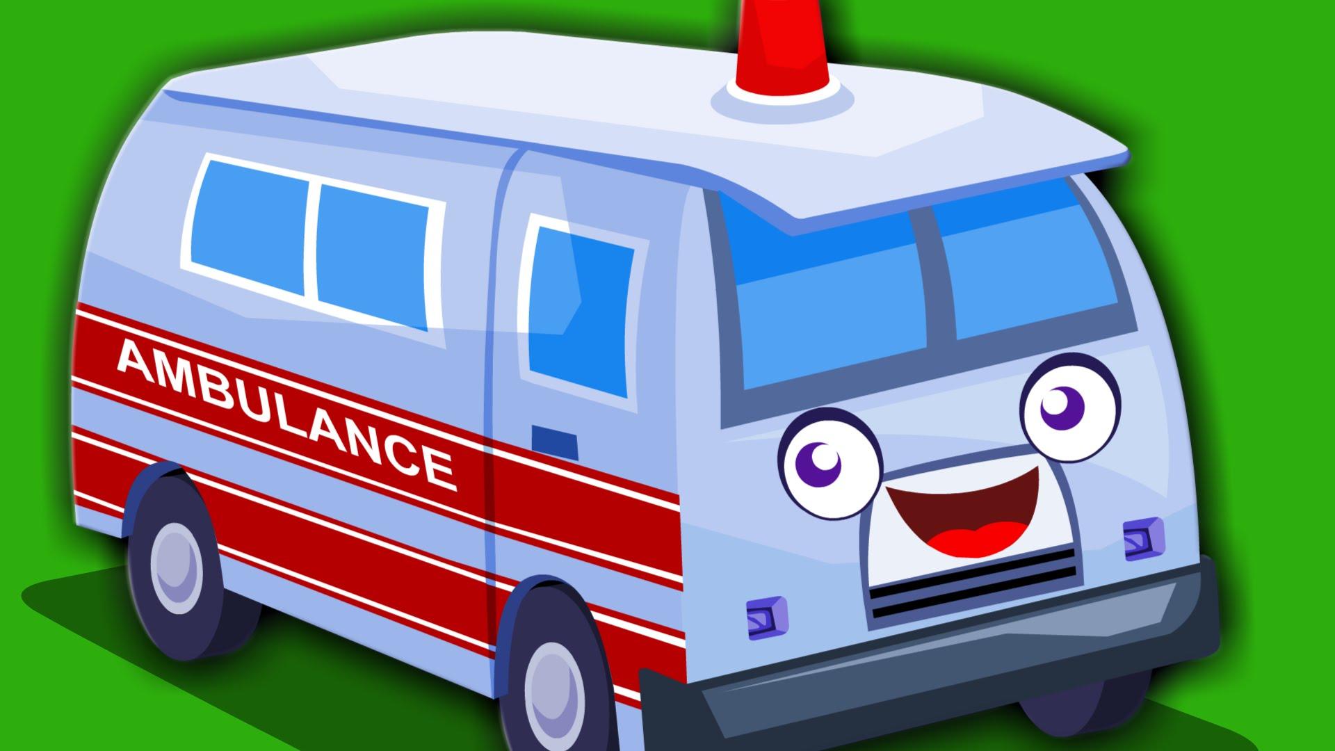 Song original nursery rhymes. Ambulance clipart kid