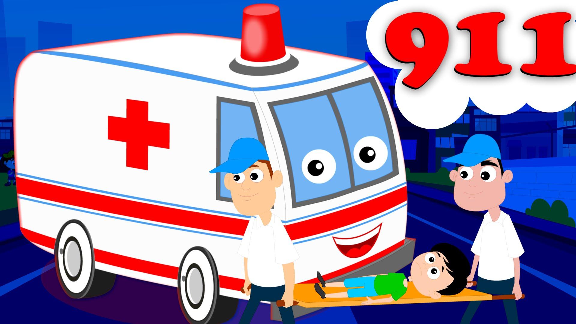 Song kids nursery rhyme. Ambulance clipart kid