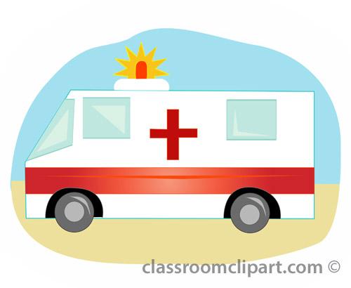 Emergency vehicle clipartix . Ambulance clipart kid