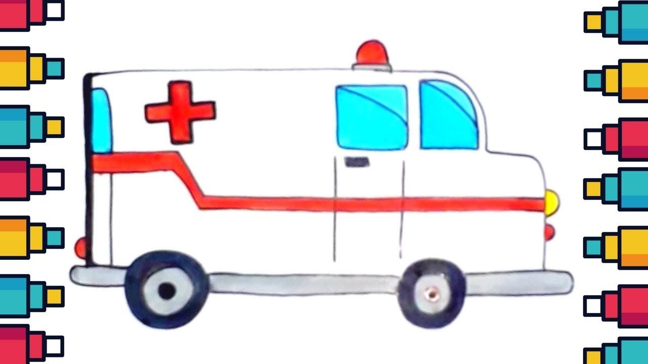 How to draw a. Ambulance clipart kid