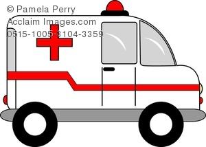 Ambulance clipart line art. Clip image of a