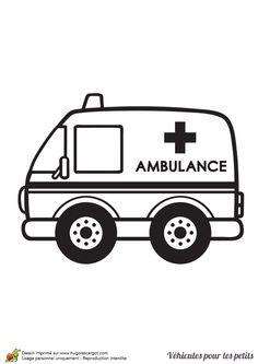 Clip decoupage pinterest and. Ambulance clipart line art