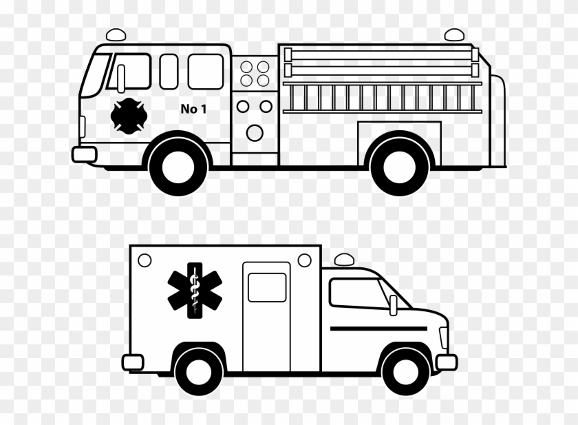 Png black and white. Ambulance clipart line art