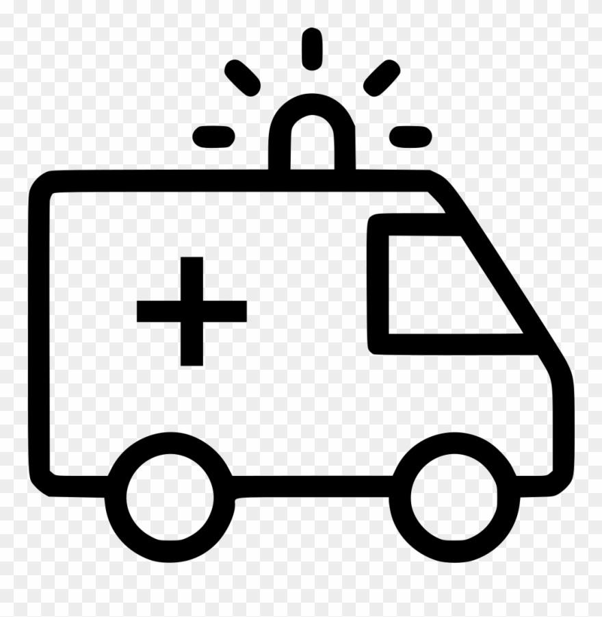 Icon png . Ambulance clipart line drawing