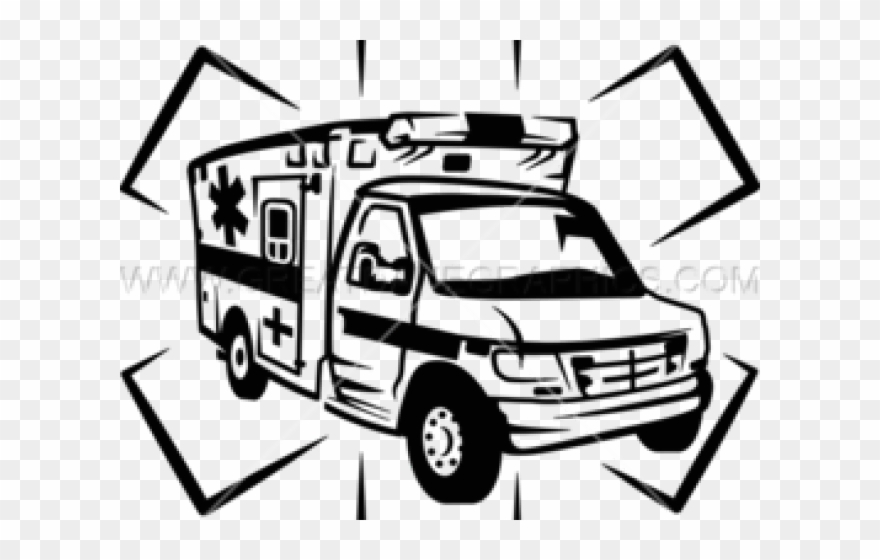 Ambulance clipart line drawing. Png download