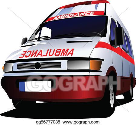 Eps vector van over. Ambulance clipart modern