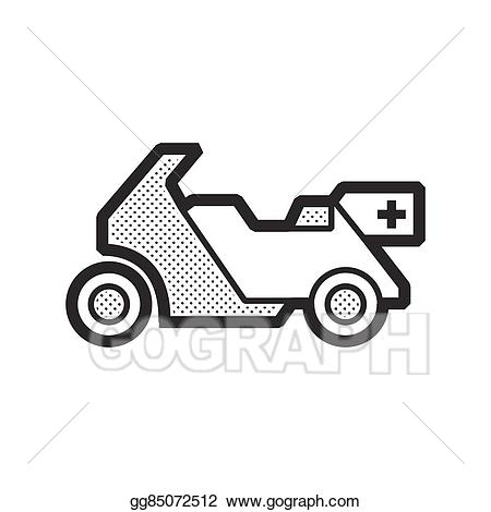 Clip art vector design. Ambulance clipart motorcycle
