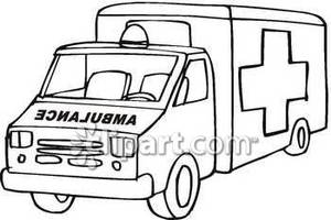 Police black and white. Ambulance clipart motorcycle