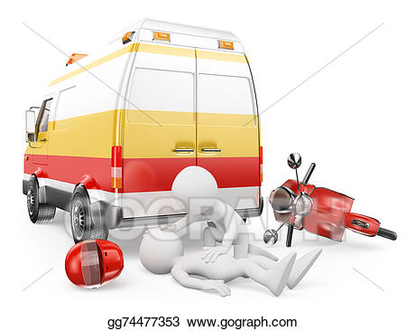 Ambulance clipart motorcycle. Stock illustration d white