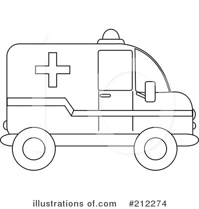 Ambulance clipart outline. Illustration by pams royaltyfree