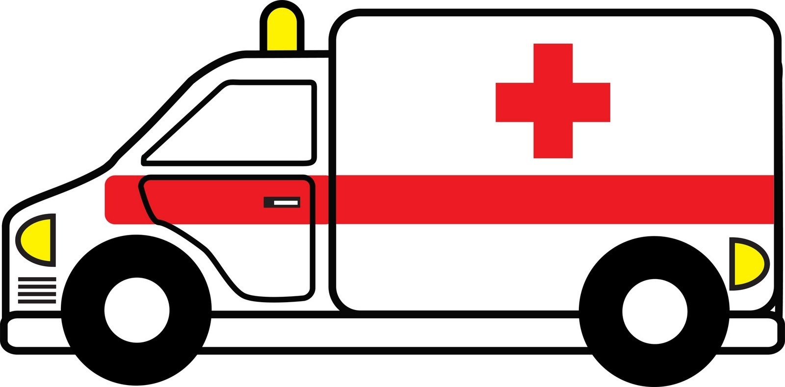 Ambulance clipart outline. Kind of letters free