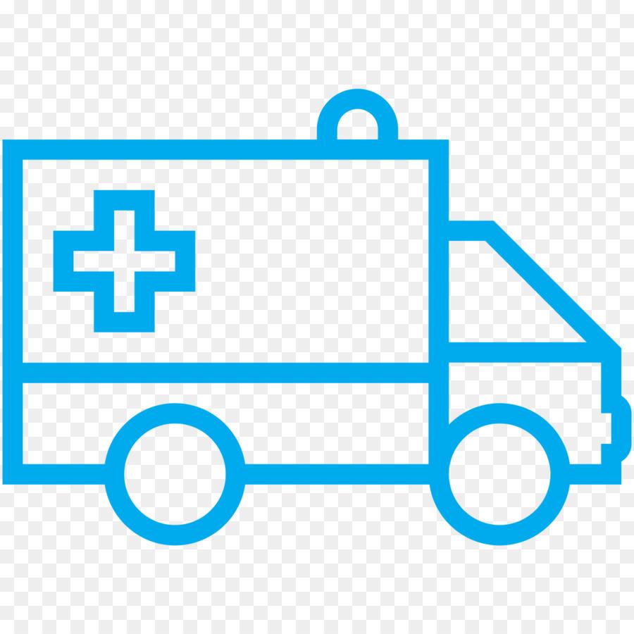 Cartoon illustration blue . Ambulance clipart outline
