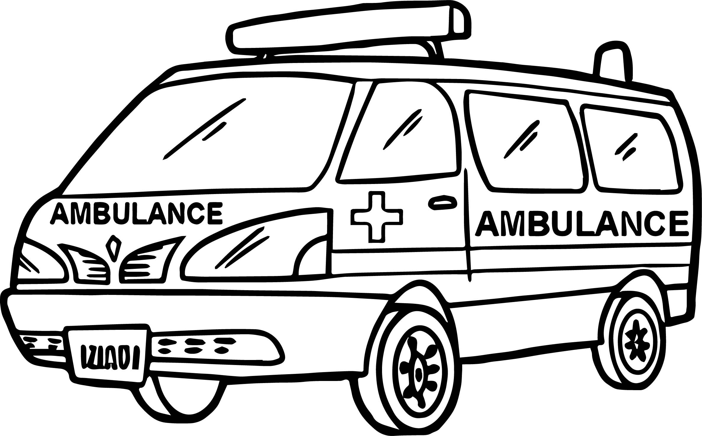Sketch at paintingvalley com. Ambulance clipart outline