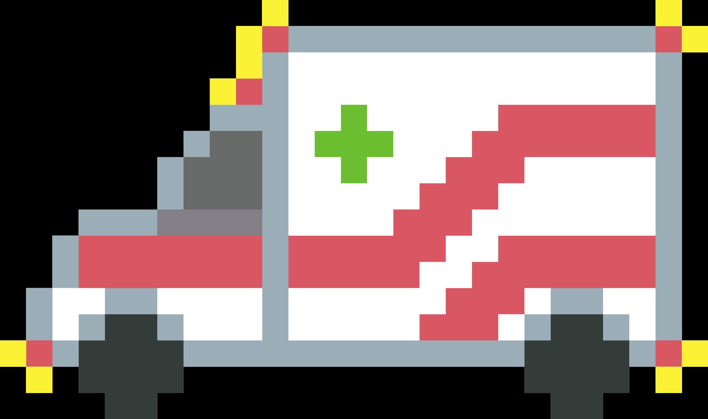 Art ambulance icons png. Logs clipart pixel
