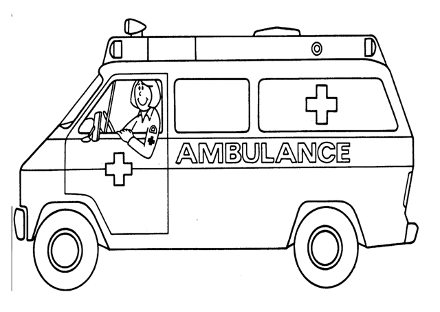 Ambulance clipart printable. Download coloring pages