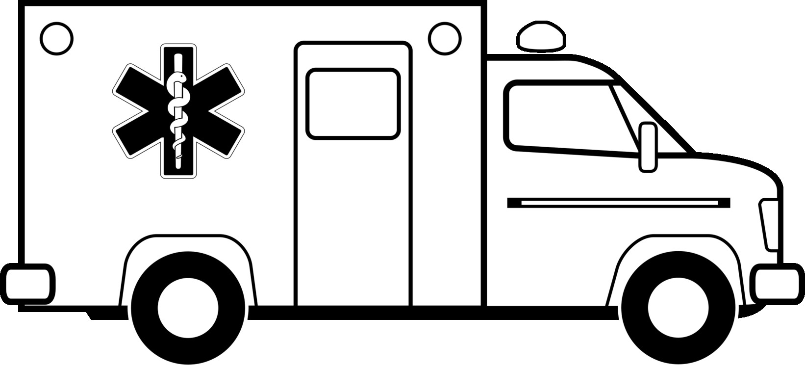 For to free images. Ambulance clipart printable