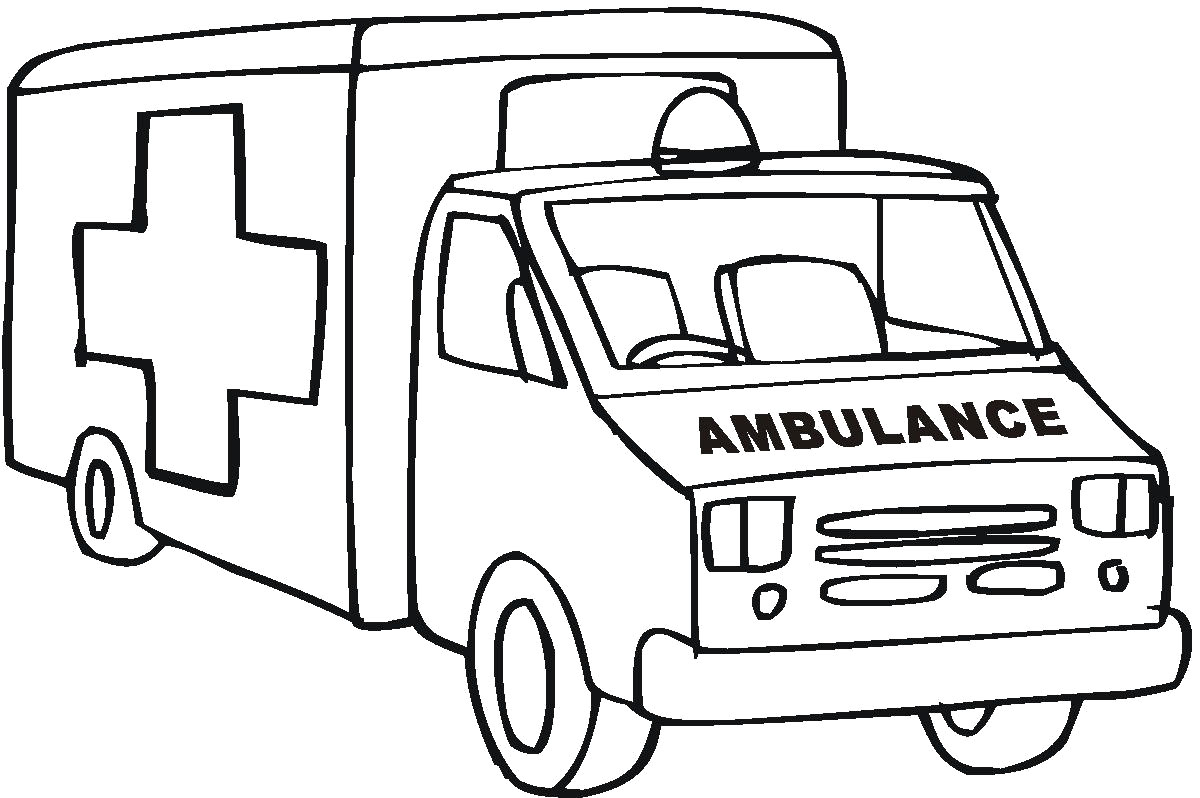 Ambulance clipart printable. Coloring pages to download