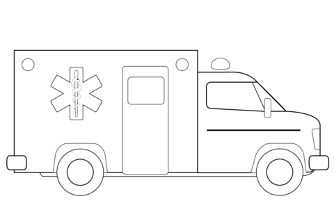 Ambulance clipart printable. Truck coloring page free