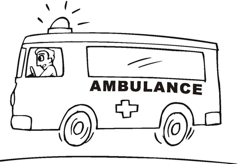 Ambulance clipart printable. Coloring page free pages