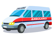 Free emergency clip art. Ambulance clipart side view
