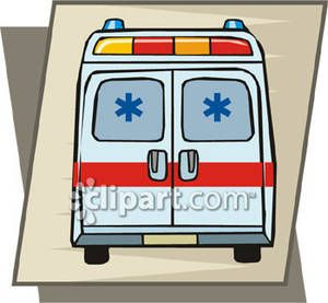 Ambulance clipart side view. Driver clip art back