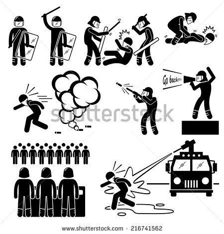 Ambulance clipart stick figure. Riot police pictogram icons
