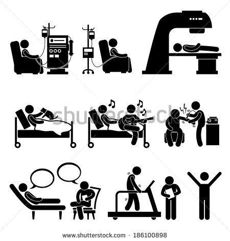 Hospital medical therapy treatment. Ambulance clipart stick figure