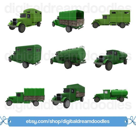 Truck classic clip art. Ambulance clipart vintage