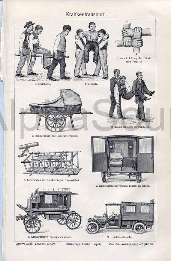 Ambulance clipart vintage. Medical patient transport antique
