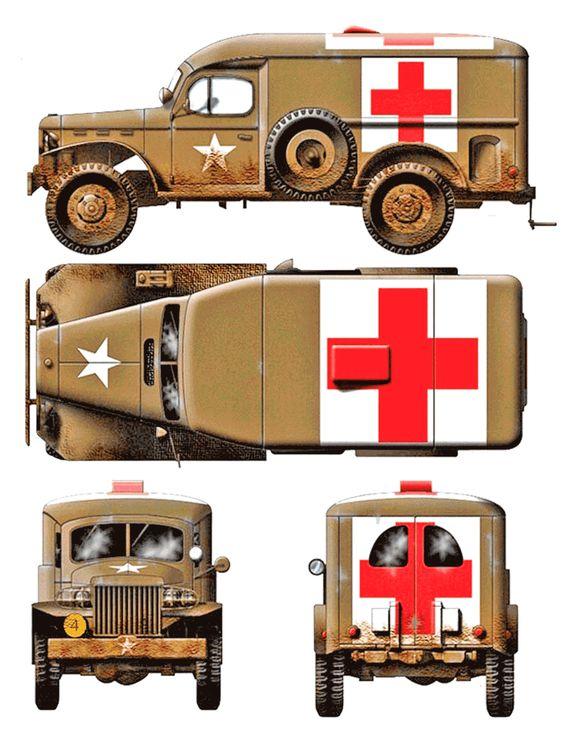 Ambulance clipart vintage. Fleetmasters dodge wd military