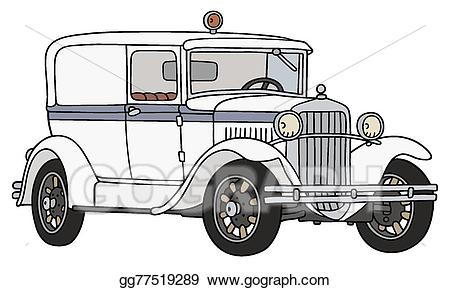 Ambulance clipart vintage. Vector art wintage eps