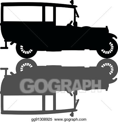 Vector car illustration . Ambulance clipart vintage