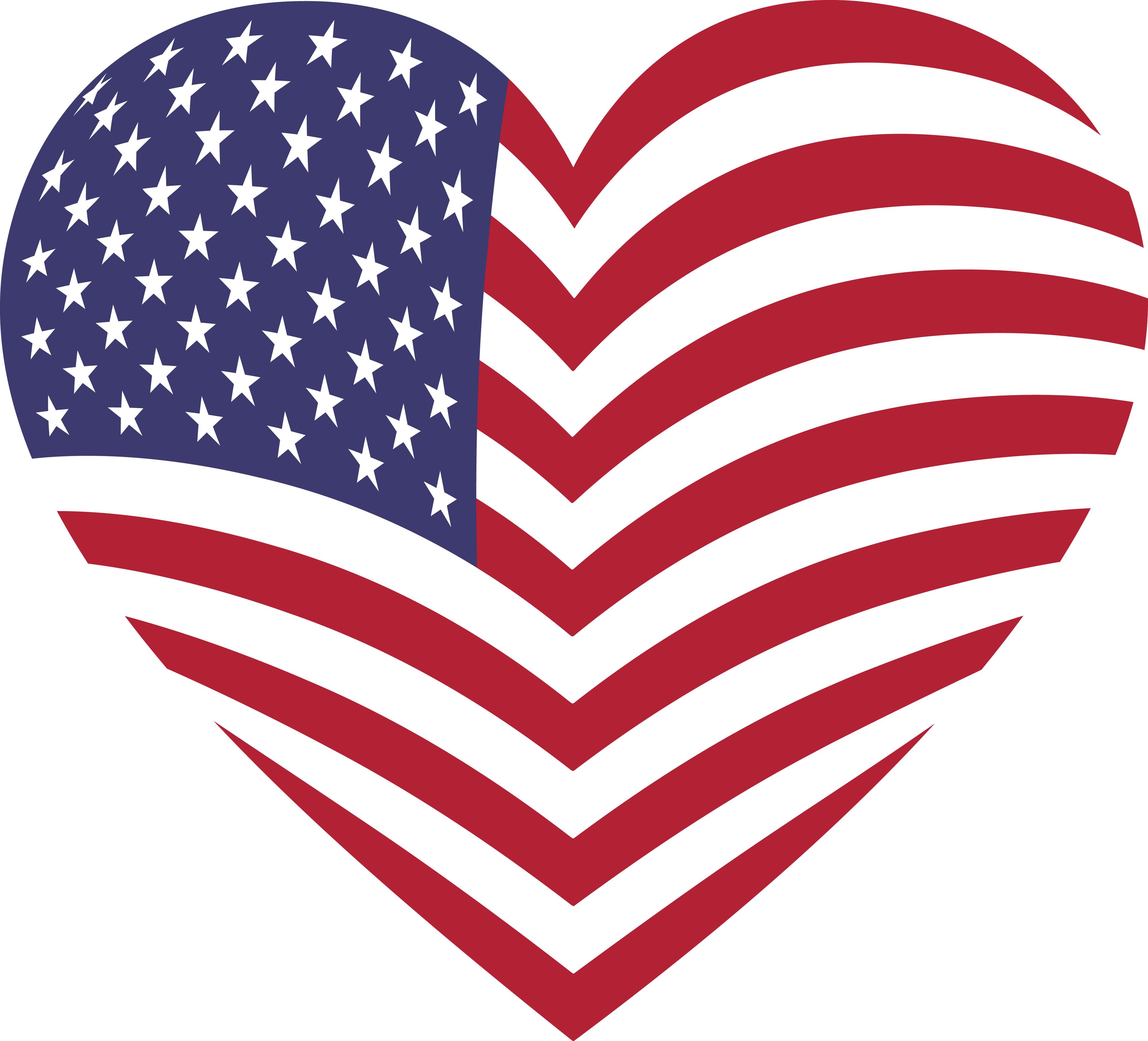 America clipart. American flag clip art