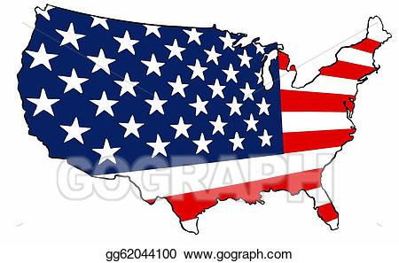 Stock illustration united states. America clipart