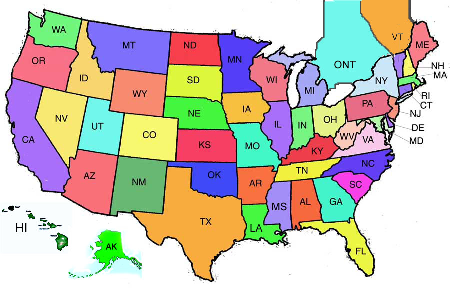 America clipart 50 state. Know your dot com