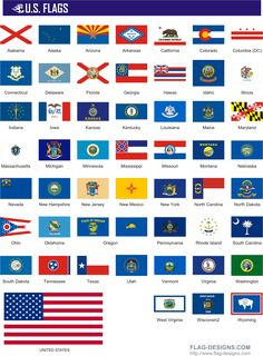 Flags every of united. America clipart 50 state