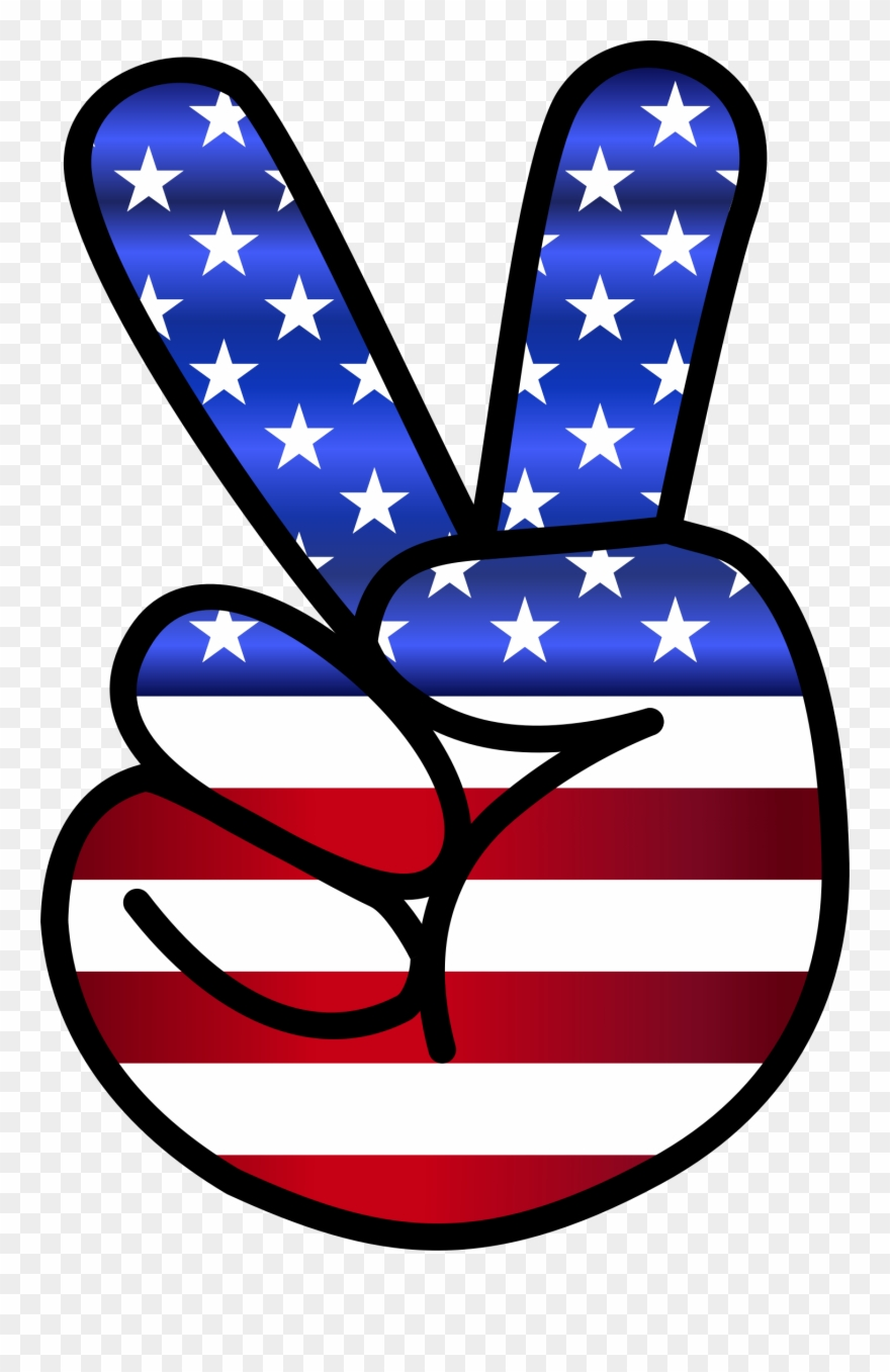 Peace sign american hand. America clipart