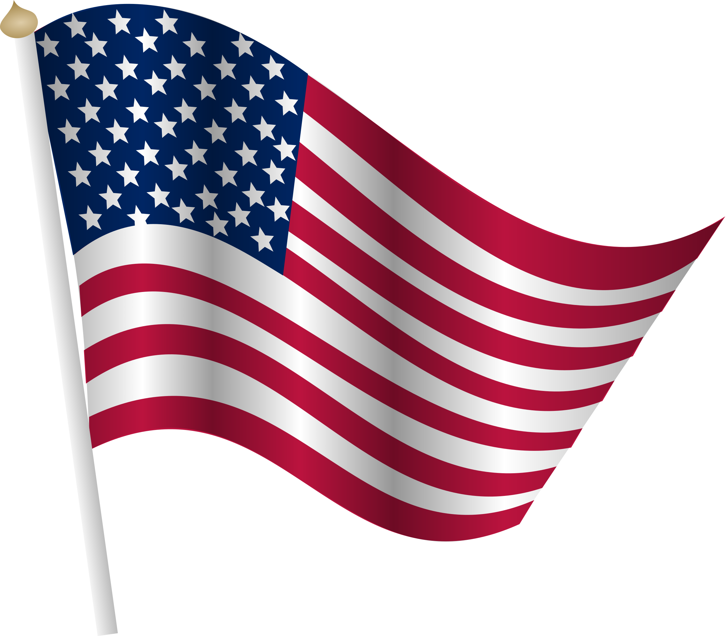 American flag big image. Land clipart country land