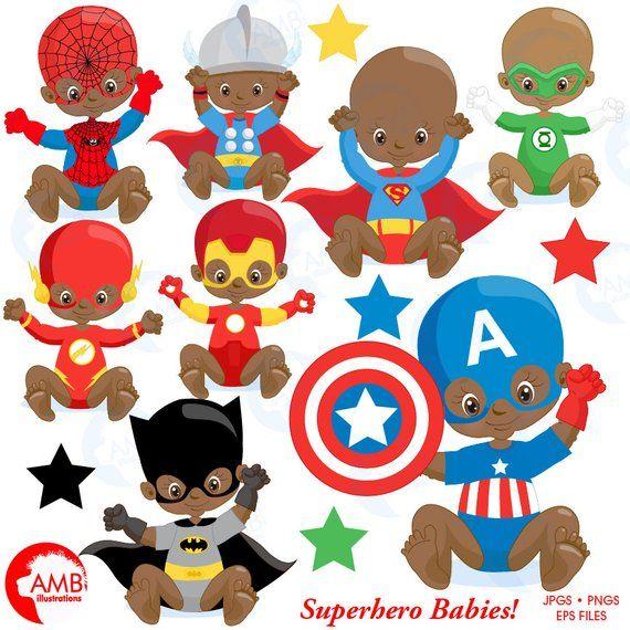 Superhero babies super hero. America clipart baby
