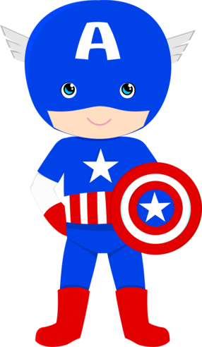 America clipart baby. Super her is captain