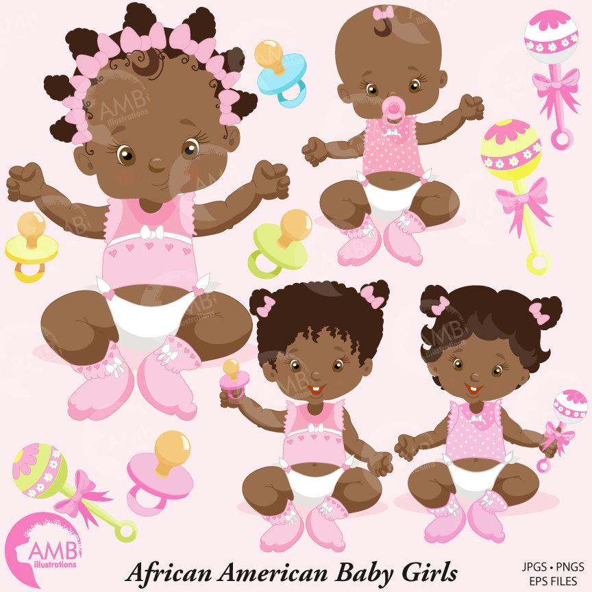 Girl clip art african. America clipart baby