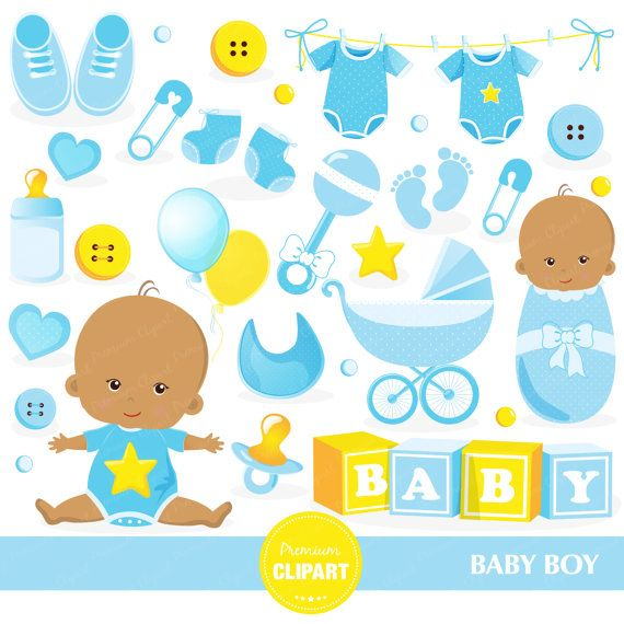 America clipart baby. Boy shower african american