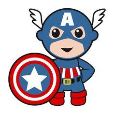 America clipart baby. Superhero boy with thor