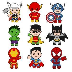 Superhero boy with thor. America clipart baby